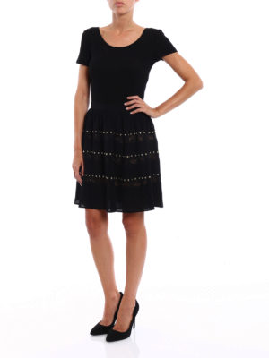 Michael Kors: Knee length skirts & Midi online - Crepe embellished circle skirt