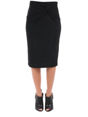 Michael Kors: Knee length skirts & Midi online - Knot detailed wool blend skirt
