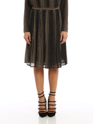 Michael Kors: Knee length skirts & Midi online - Lined and pleated lightweight skirt