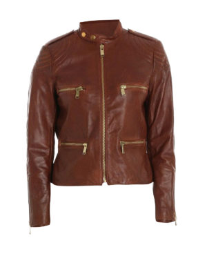 Michael Kors: leather jacket - Four pockets detail leather jacket