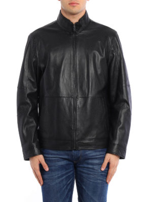 Michael Kors: leather jacket online - Smooth nappa leather jacket