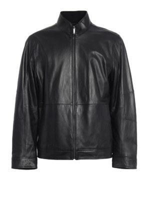 Michael Kors: leather jacket - Smooth nappa leather jacket
