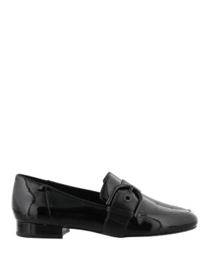 Michael Kors: Loafers & Slippers - Cooper buckle patent loafers