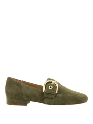 Michael Kors: Loafers & Slippers - Cooper buckle suede loafers