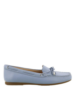 MICHAEL KORS: Mocassini e slippers - Mocassini celeste chiaro in pelle