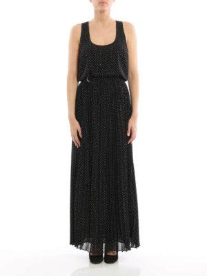 Michael Kors: maxi dresses online - Polka dot crepe maxi dress