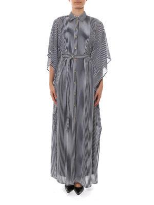 Michael Kors: maxi dresses online - Striped maxi shirt dress
