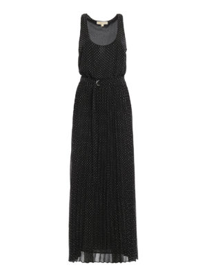 Michael Kors: maxi dresses - Polka dot crepe maxi dress