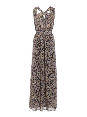 Michael Kors: maxi dresses - Ring neckline animal print dress