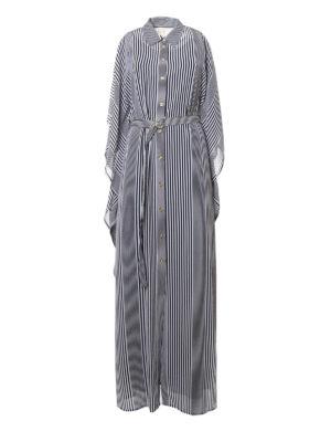 Michael Kors: maxi dresses - Striped maxi shirt dress