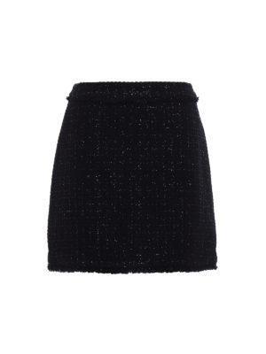 Michael Kors: mini skirts - Boucle wool blend flared skirt