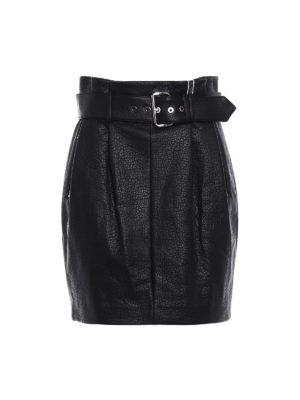 Michael Kors: mini skirts - Faux leather belted mini skirt