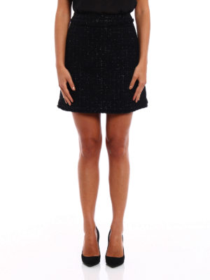 Michael Kors: mini skirts online - Boucle wool blend flared skirt