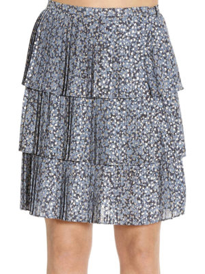 Michael Kors: mini skirts online - Pleated floral print skirt