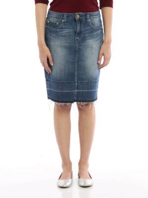 Michael Kors: mini skirts online - Washed denim mini skirt