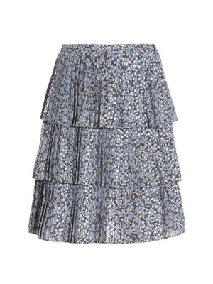 Michael Kors: mini skirts - Pleated floral print skirt