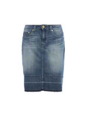 Michael Kors: mini skirts - Washed denim mini skirt