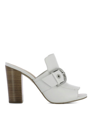 Michael Kors: mules shoes - Leather mules with open toe