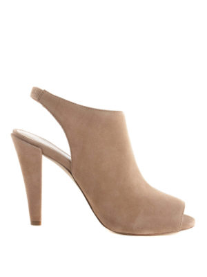 Michael Kors: mules shoes - Suede open toe slingback mules