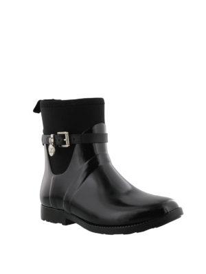 MICHAEL KORS: tronchetti online - Stivali da pioggia in gomma nera