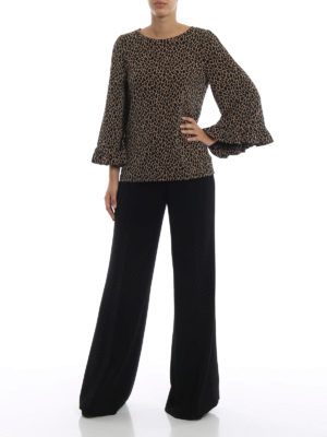 MICHAEL KORS: bluse online - Blusa in jersey opaco stampa animalier
