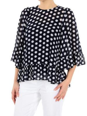 MICHAEL KORS: bluse online - Blusa a pois con balze