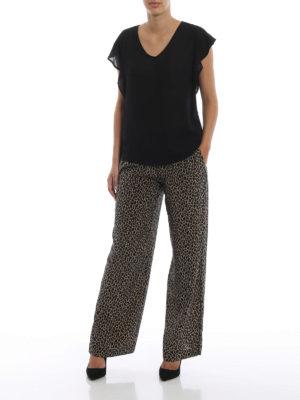 MICHAEL KORS: pantaloni casual online - Pantaloni stile pigiama in seta animalier