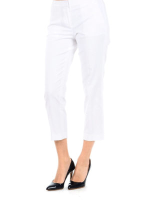MICHAEL KORS: pantaloni casual online - Pantaloni chino crop bianchi