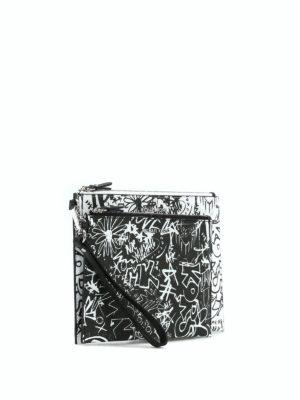 MICHAEL KORS: pochette online - Buste in pelle con graffiti Travel Duo
