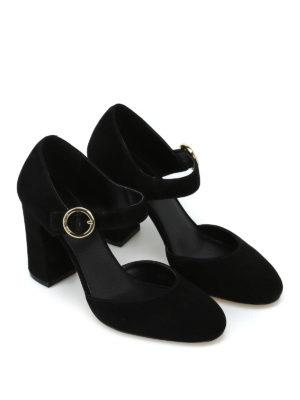 MICHAEL KORS: scarpe décolleté online - Décolleté nere Alana in pelle scamosciata