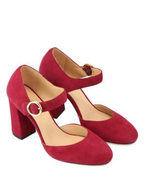 MICHAEL KORS: scarpe décolleté online - Décolleté Alana scamosciate color mora