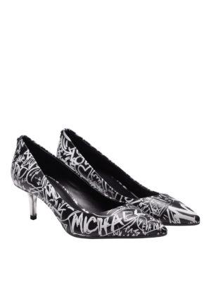 MICHAEL KORS: scarpe décolleté online - Décolleté Flex in pelle stampa graffiti