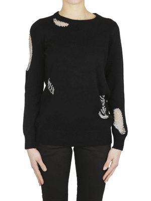 MICHAEL KORS: maglia collo rotondo online - Maglia girocollo con catenelle