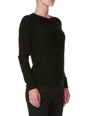 MICHAEL KORS: maglia collo rotondo online - Girocollo in lana merino decorato sui bordi
