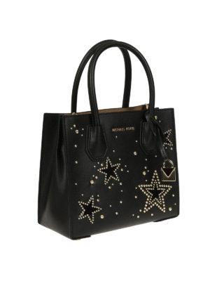 MICHAEL KORS: borse a tracolla online - Mercer S con stelle e borchiette