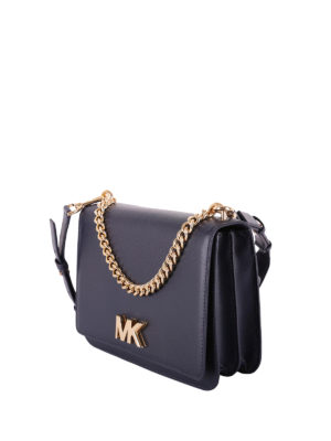 MICHAEL KORS: borse a tracolla online - Borsa a tracolla Mott in pelle blu