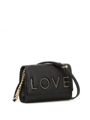 MICHAEL KORS: borse a tracolla online - Tracolla Ruby Love in pelle nera