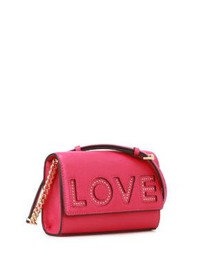 MICHAEL KORS: borse a tracolla online - Tracolla Ruby Love in pelle fucsia