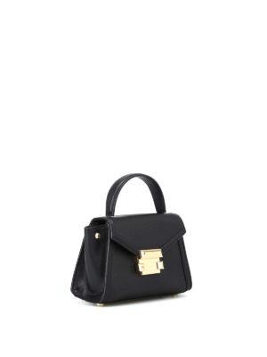 MICHAEL KORS: borse a tracolla online - Mini borsa Whitney in pelle nera