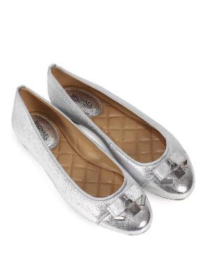 MICHAEL KORS: ballerine online - Ballerine Alice in nappa argento