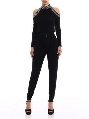 MICHAEL KORS: tute online - Tuta in jersey con strass e cintura