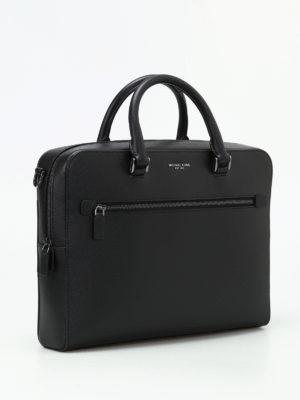 MICHAEL KORS: borse da ufficio online - Valigetta media Harrison in pelle