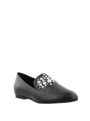 MICHAEL KORS: Mocassini e slippers online - Mocassini Gia con perle e borchie
