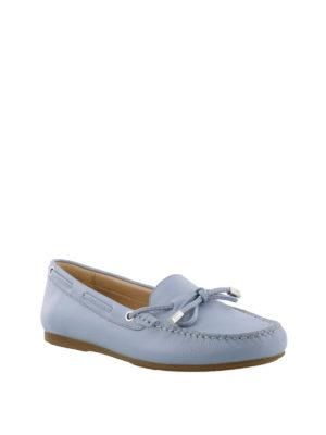 MICHAEL KORS: Mocassini e slippers online - Mocassini celeste chiaro in pelle