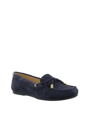 MICHAEL KORS: Mocassini e slippers online - Mocassini Sutton in suede blu scuro