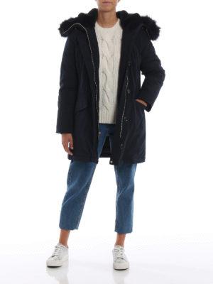 MICHAEL KORS: cappotti imbottiti online - Parka imbottito con finta pelliccia
