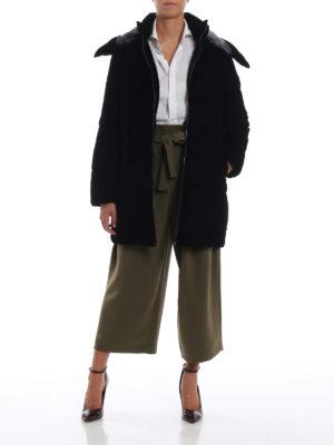 MICHAEL KORS: cappotti imbottiti online - Piumino in velluto con cappuccio staccabile