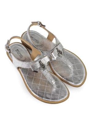 MICHAEL KORS: sandali online - Sandali argento Alice in nappa