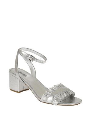 MICHAEL KORS: sandali online - Sandali Bella Flex Mid argento