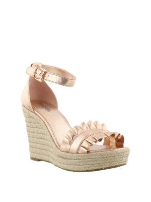 MICHAEL KORS: sandali online - Zeppe Bella pelle metallizzata